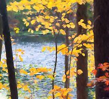 Autumn by the River by Anita Pollak