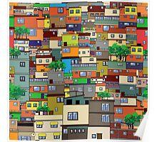 Favela, Brazil Poster