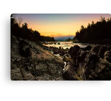 Ominous Cloud on the River Canvas Print