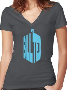 BILL AND TED - DOCTOR WHO Women's Fitted V-Neck T-Shirt