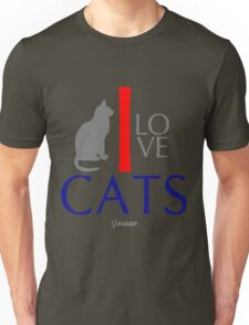I Love Cats Animals by VIMAGO Unisex T-Shirt