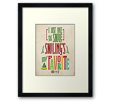 Buddy the Elf - Smiling's My Favorite! Framed Print
