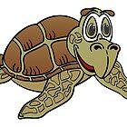Sea Turtle Cartoon by Graphxpro