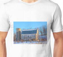 White Winter Barn Unisex T-Shirt