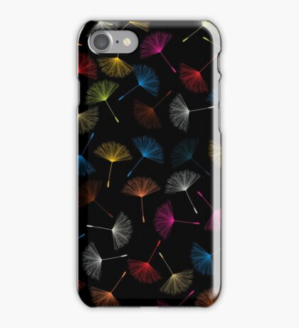 Dandelions seed pattern iPhone Case/Skin