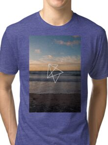 Ocean Geometric Design Tri-blend T-Shirt