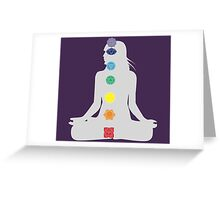 Seven Chakras & The Divine Feminine Greeting Card