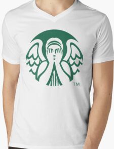 Starbucks Don't Blink Mens V-Neck T-Shirt