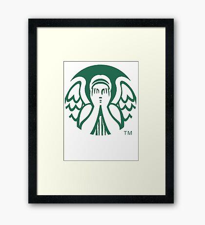 Starbucks Don't Blink Framed Print
