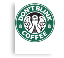 Weeping Angel of Original Starbucks Logo Canvas Print