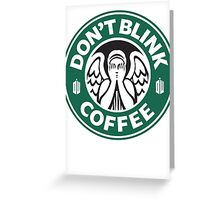 Weeping Angel of Original Starbucks Logo Greeting Card