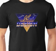 JC Design Retro 80s Style T-Shirt (Yellow) Unisex T-Shirt