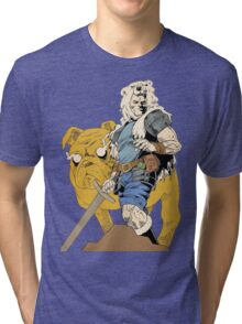 Adventurous Timing ~ Colored Heroes Tri-blend T-Shirt