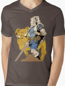Adventurous Timing ~ Colored Heroes Mens V-Neck T-Shirt