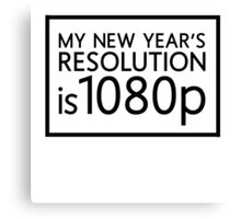 New Year's Resolution Canvas Print