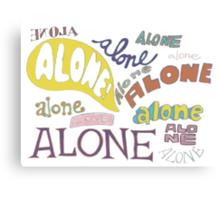Squidward's Alone Canvas Print