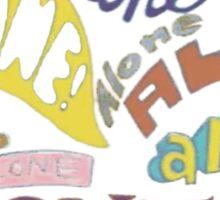 Squidward's Alone Sticker