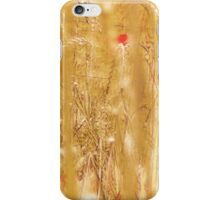 Pink Flowers in Grassy Field iPhone Case/Skin