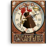 Lady Steampunk Art Nouveau Canvas Print
