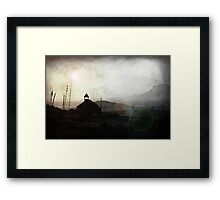 Living in Ghost Town Framed Print