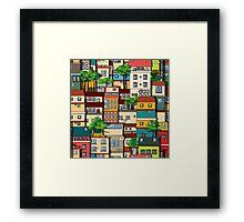 Favela seamless pattern Framed Print