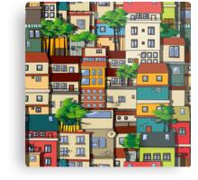 Favela seamless pattern Metal Print