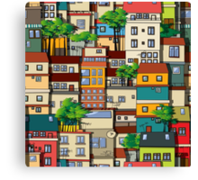 Favela seamless pattern Canvas Print