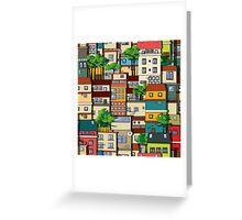 Favela seamless pattern Greeting Card