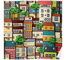 Favela seamless pattern Poster
