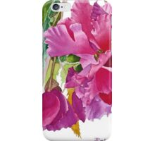 Ruffled Begonia Watercolor iPhone Case/Skin