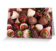 Chocolate Strawberry Decadence!  Greeting Card