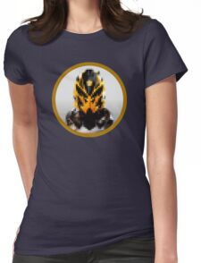 Robot head in a circle  Womens Fitted T-Shirt