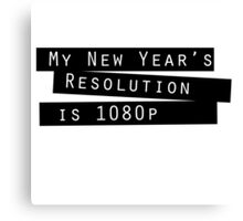 New Year's Resolution #2 Canvas Print