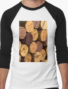 Wine bottle cork ends Men's Baseball ¾ T-Shirt