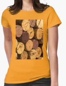 Wine bottle cork ends Womens Fitted T-Shirt