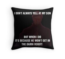 The World's Most Horrible Father Throw Pillow