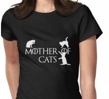 Mother of Cats Black Womens Fitted T-Shirt