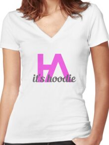 Simplistic Hoodie Allen Design 2 Women's Fitted V-Neck T-Shirt