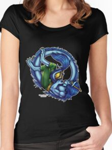 Book Dragon  Women's Fitted Scoop T-Shirt