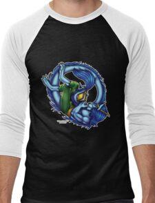 Book Dragon  Men's Baseball ¾ T-Shirt