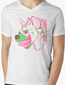 Watermelon Hyena Mens V-Neck T-Shirt
