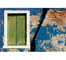 blue wall Photographic Print
