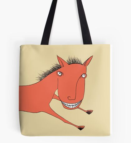 The Thrill of it All Horse Tote Bag