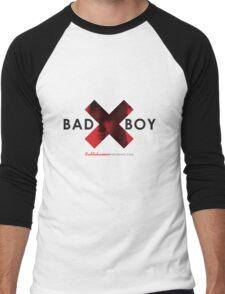 BadBoy 'X' Red Men's Baseball ¾ T-Shirt