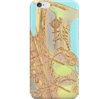 Edgey Saxophone: Selmer and Blue iPhone Case/Skin
