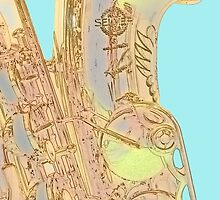 Edgey Saxophone: Selmer and Blue by JohnYoung