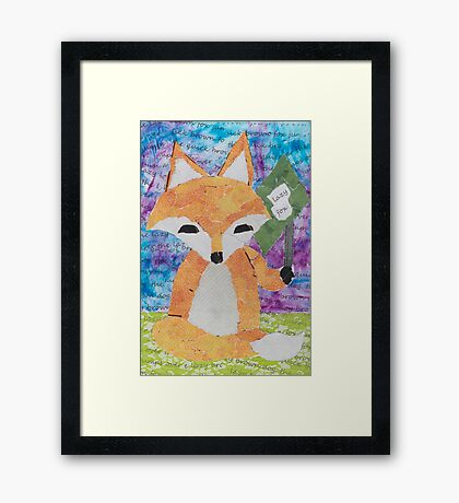 the quick red fox jumps over the lazy brown dog Framed Print