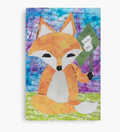 the quick red fox jumps over the lazy brown dog Canvas Print