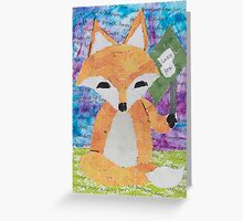 the quick red fox jumps over the lazy brown dog Greeting Card