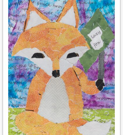the quick red fox jumps over the lazy brown dog Sticker